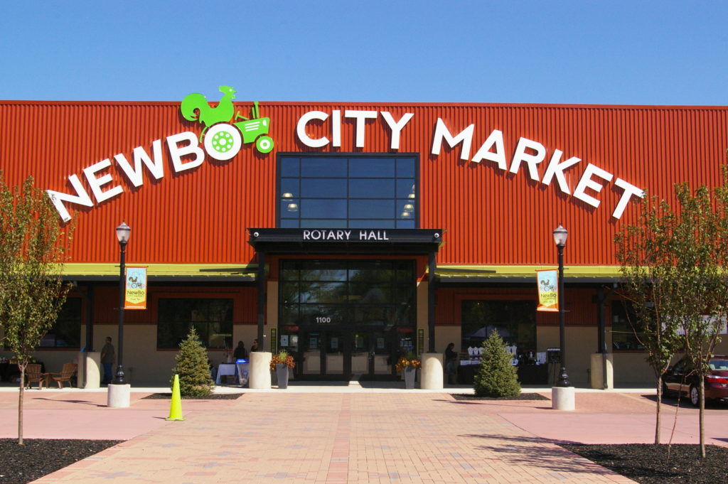 Exterior of NewBo City Market in Cedar Rapids, Iowa