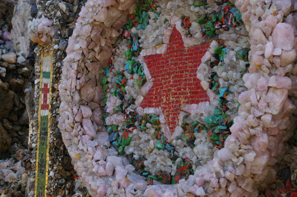 Star made in stone at the Grotto of the Redemption in West Bend, Iowa