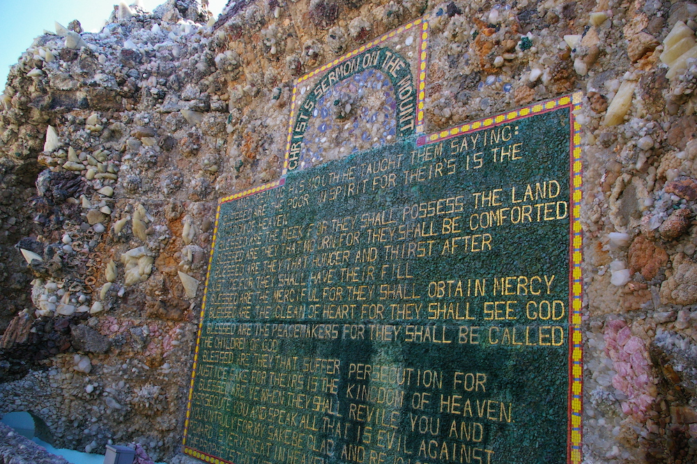 Christ's Sermon of the Mount made in stone at the Grotto of the Redemption in West Bend, Iowa