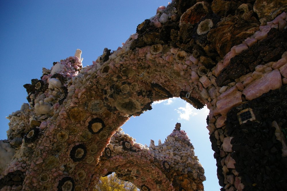 Archway made of stone and gems at the Grotto of the Redemption in West Bend, Iowa