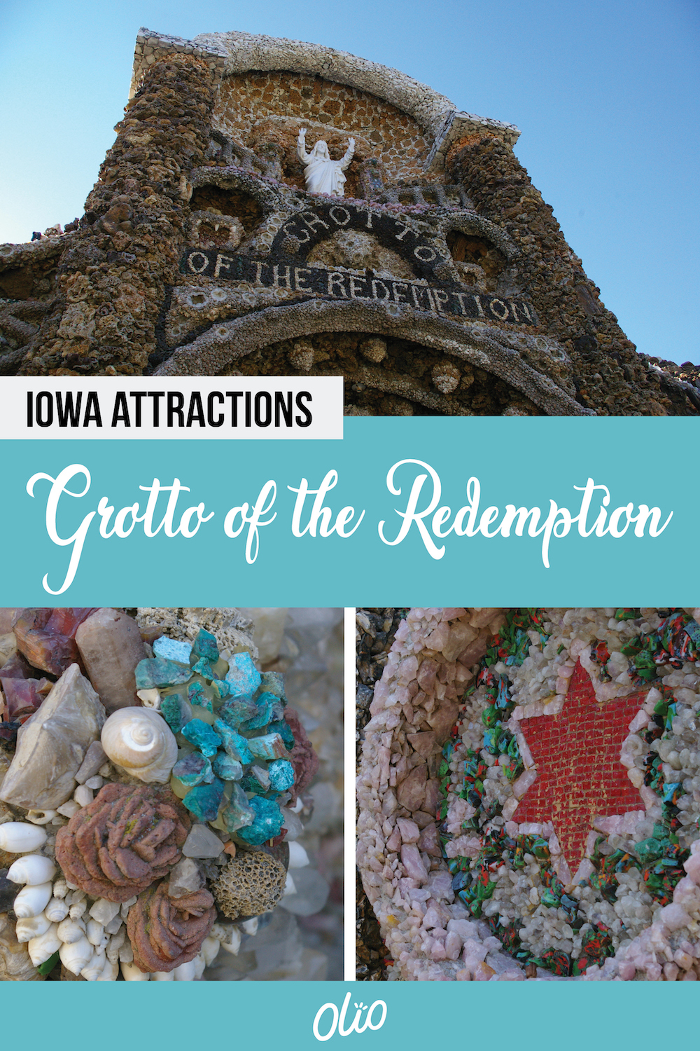 Located in West Bend, Iowa, the Grotto of the Redemption has been referred to as the eighth wonder of the world. This unique attraction is constructed with an estimated $4.3 million in stones and precious gems. Construction on the grotto began in 1912 and today it is listed on the National Register of Historic Places, attracting more than 100,000 visitors every year. #Iowa #RoadsideAttractions