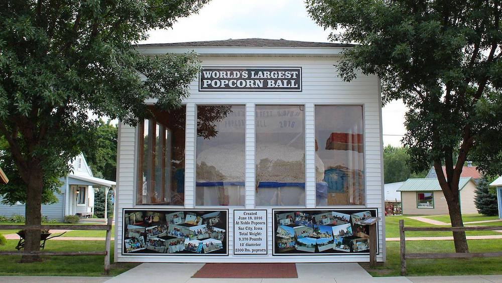 World's Largest Ball of Popcorn in Sac City, Iowa