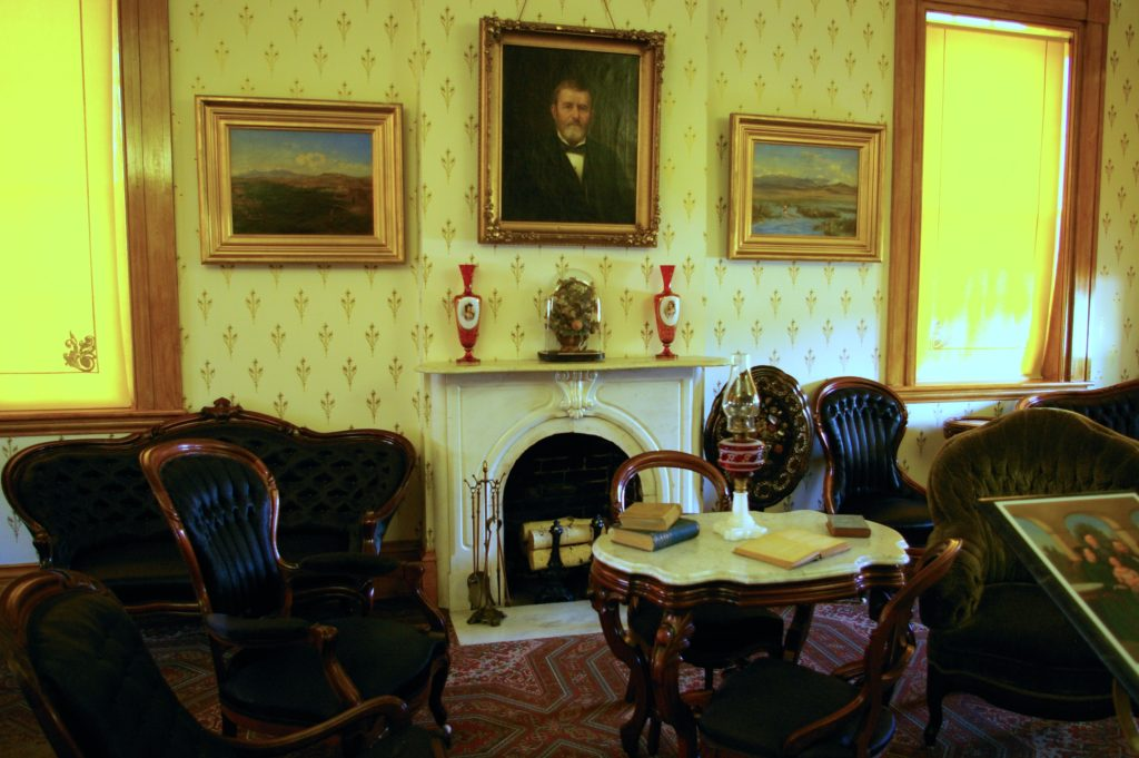Formal sitting room at the Ulysses S. Grant home in Galena, Illinois