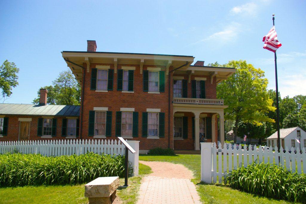 Brick exterior of Ulysses S. Grant home in Galena, Illinois