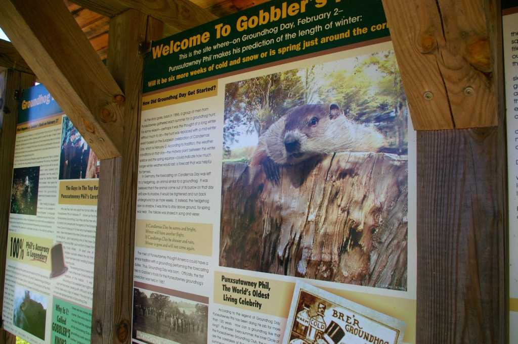 Gobbler's Knob Sign
