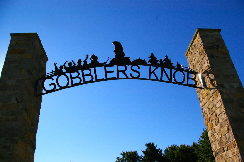 Gobbler's Knob entryway sign