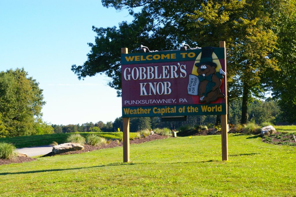 Gobbler's Knob Sign, Weather Capital of the World