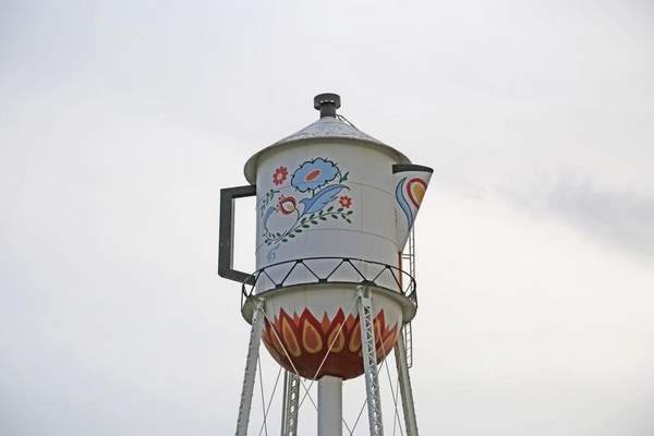 World's Largest Swedish Coffee Pot water tower in Stanton, Iowa
