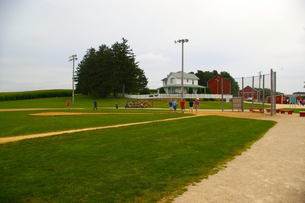 Baseball diamond at the Field of Dreams in Dyersville, Iowa
