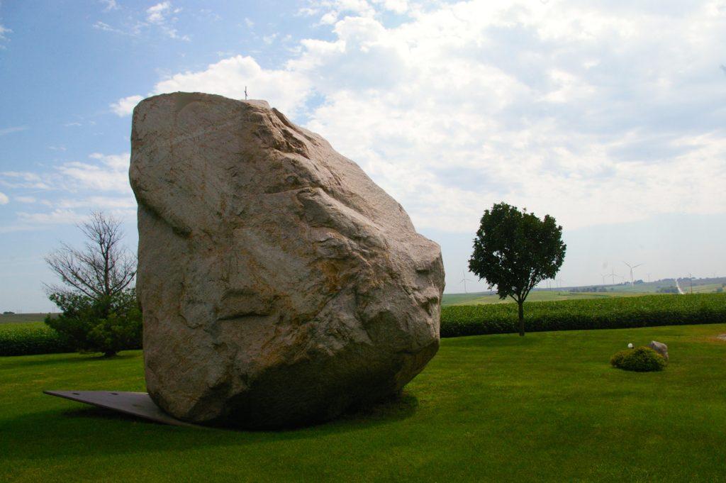 Giant boulder known as Slayton Rock near Casey, Iowa