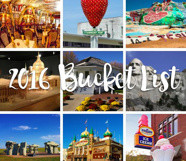 2016 Bucket List