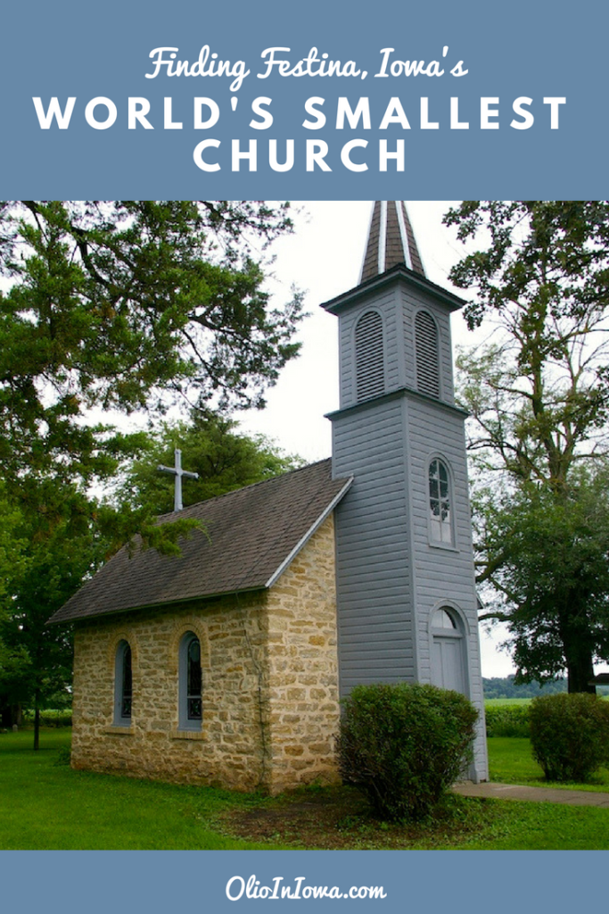 While it may not be the actual smallest church, the World's Smallest Church near Festina, Iowa should be a stop on your next road trip. #Iowa #WorldsSmallestChurch #RoadTrip