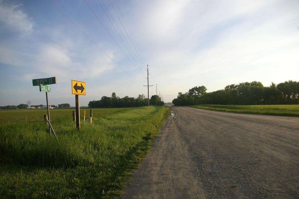 Dirt road near the Buddy Holly crash site near Clear Lake, Iowa