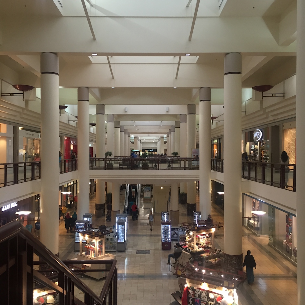Mall view of the Rosedale Center in Roseville, Minnesota