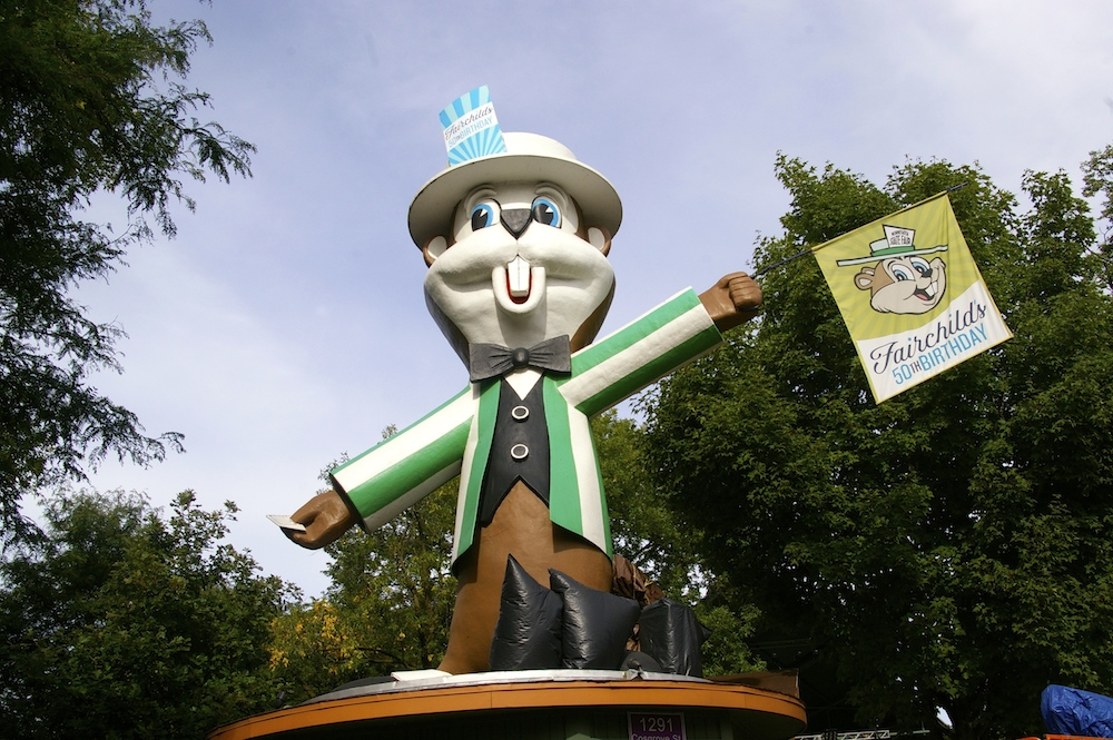 Fairchild the mascot of the Minnesota State Fair in Saint Paul, Minnesota