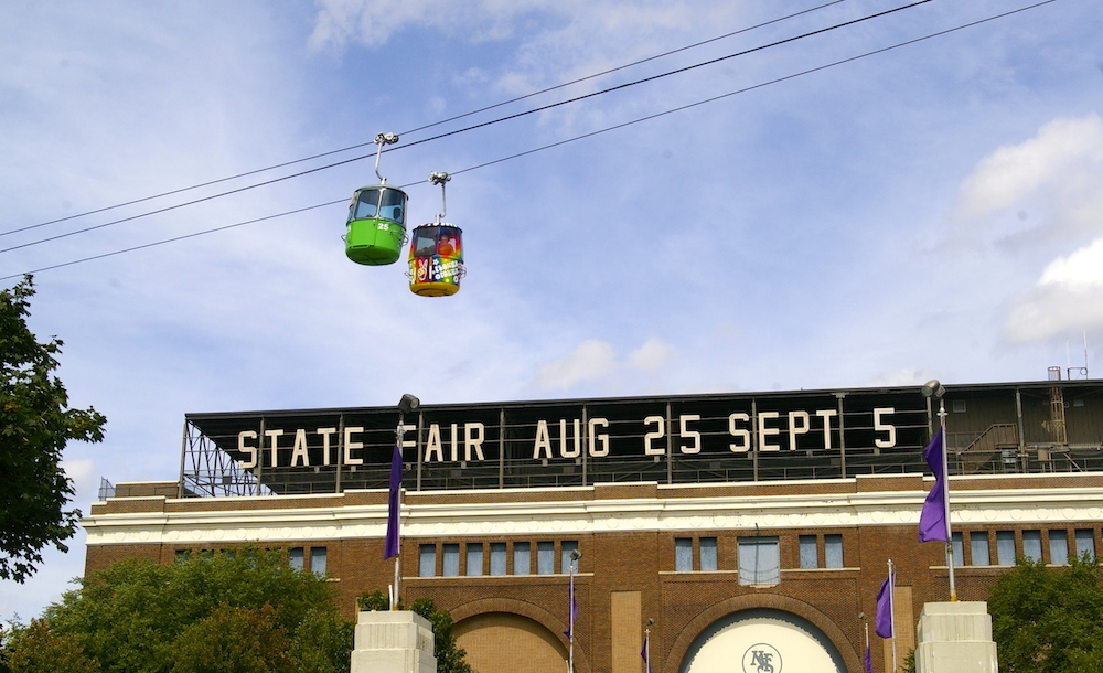 State Fair grandstand at the Minnesota State Fair in St. Paul, Minnesota