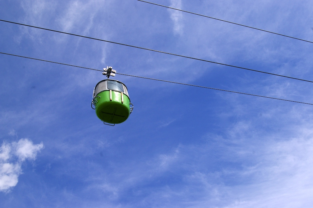 Cable car over the Minnesota State Fair in St. Paul, Minnesota