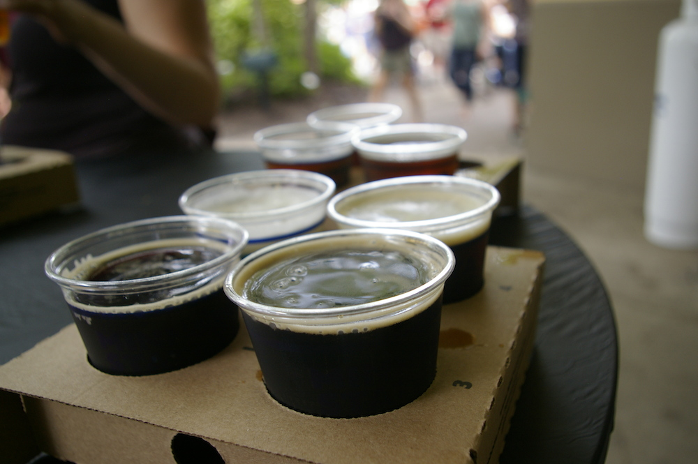 Beer samples at the Minnesota State Fair in St. Paul, Minnesota