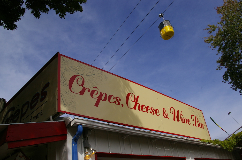 Crepes, Cheese & Wine Bar vendor at the Minnesota State Fair in St. Paul, Minnesota