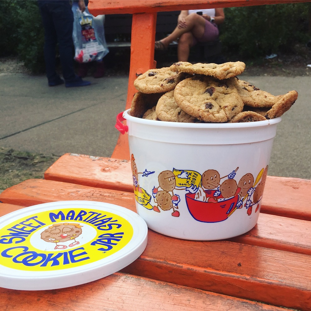 Bucket of cookies from Sweet Martha's Cookie Jar at the Minnesota State Fair in St. Paul, Minnesota