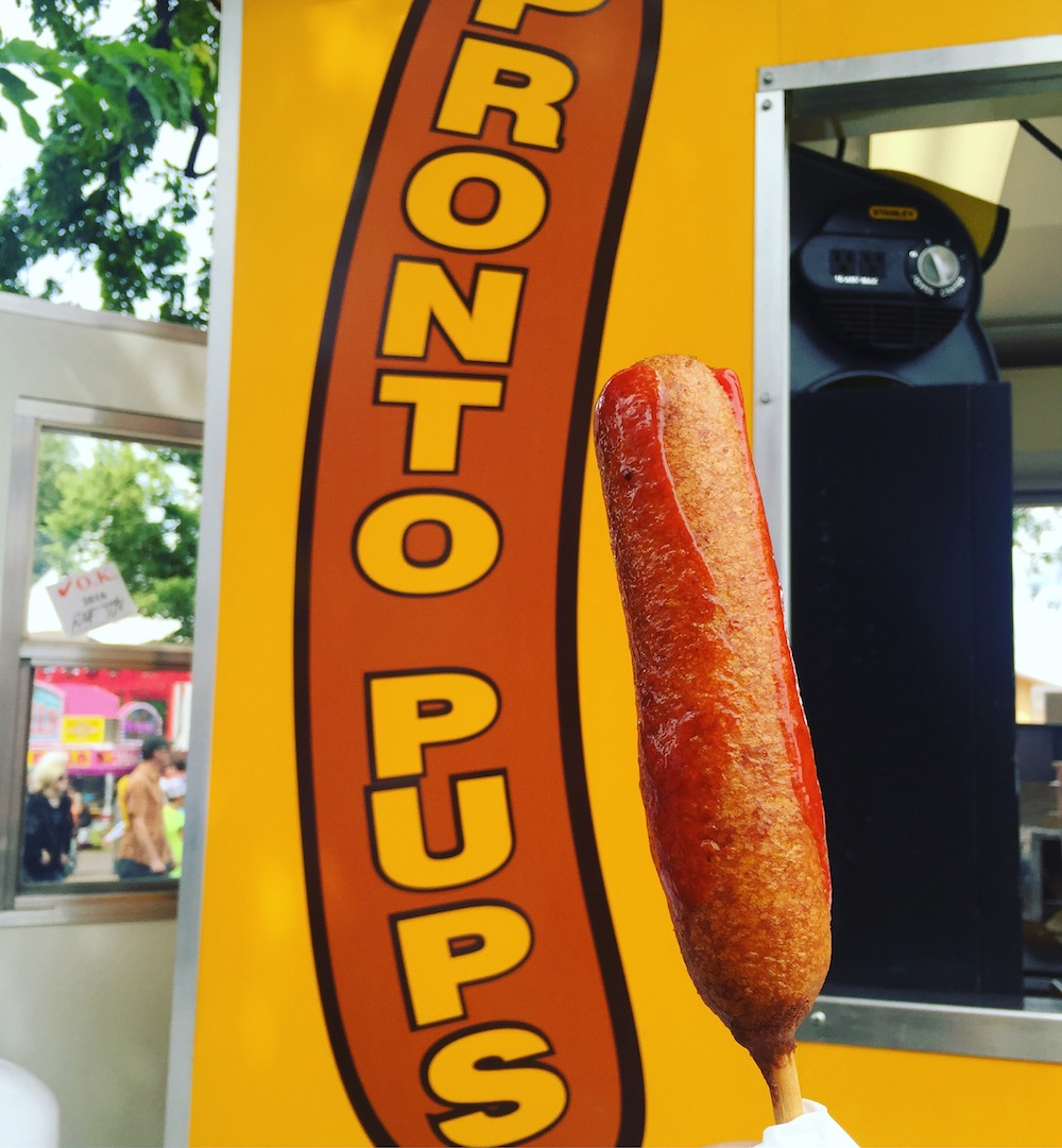 Pronto Pup with ketchup at the Minnesota State Fair in St. Paul, Minnesota