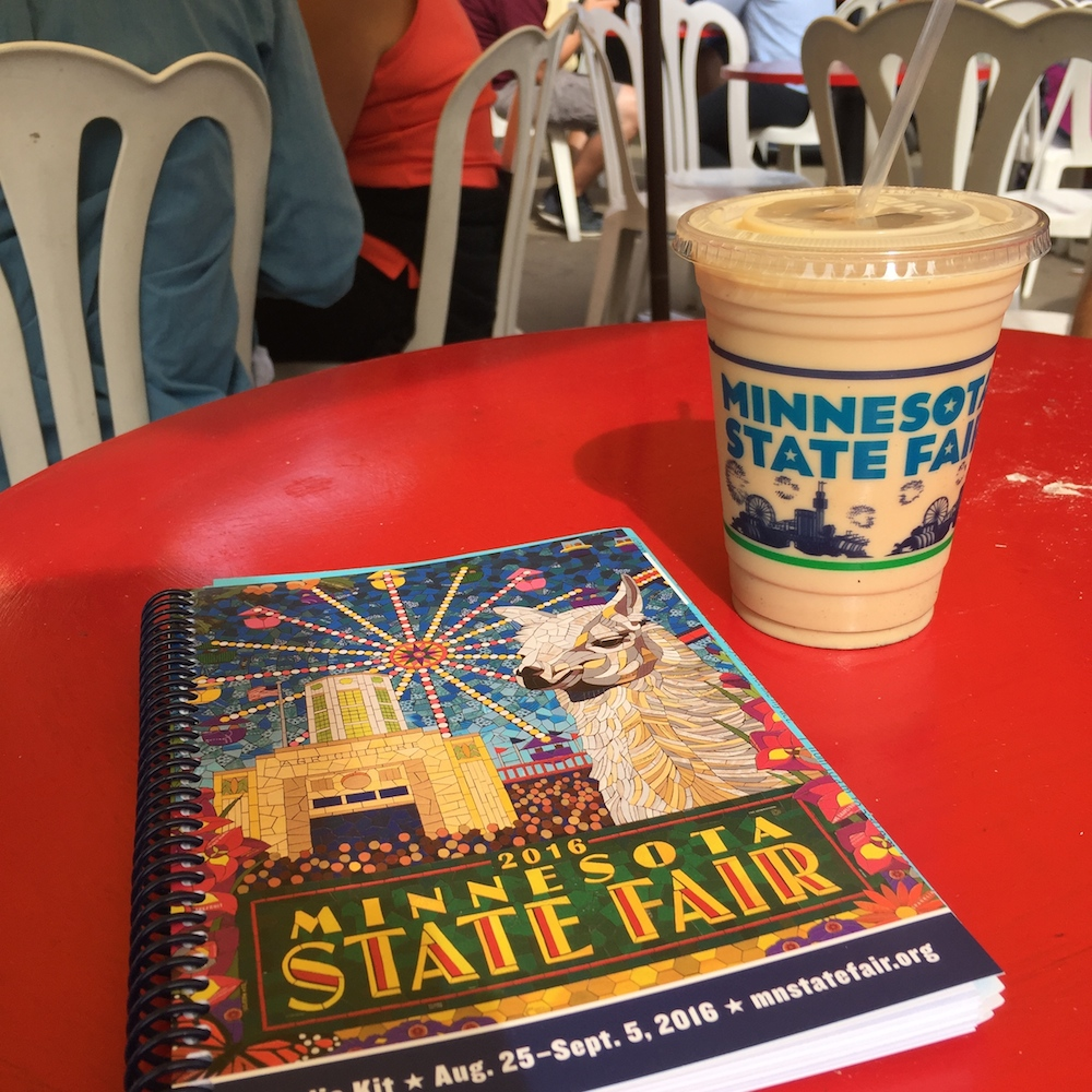 Minnesota State Fair Visitor Guide and Coffee at the Minnesota State Fair in St. Paul, Minnesota
