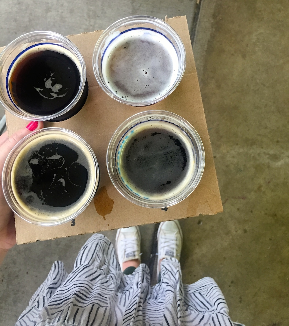 Beer samples at the Minnesota State Fair in Saint Paul, Minnesota