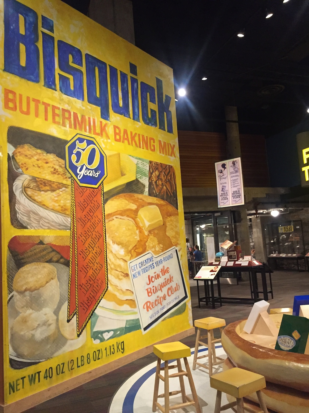 Bisquick Buttermilk Baking Mix display at the Mill City Museum in Minneapolis, Minnesota