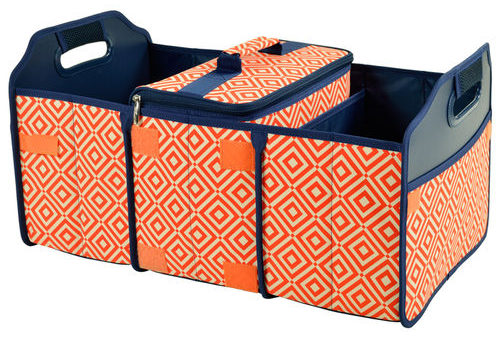 Diamond Collection Trunk Organizer and Cooler Set