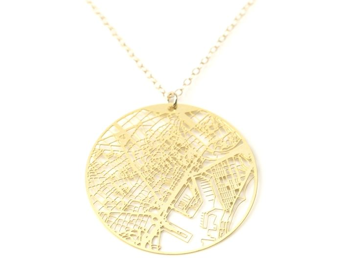Aminimal Urban Gridded Necklace