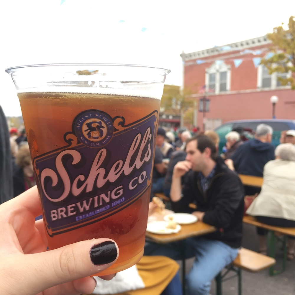 Pint of beer from Schell's Brewery at Octoberfest in New Ulm, Minnesota