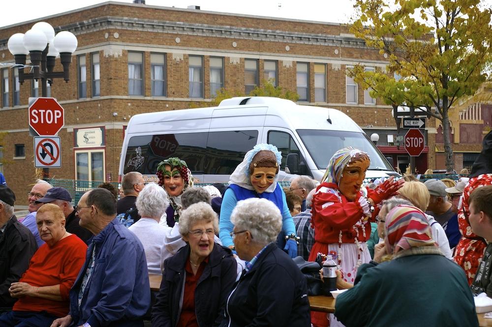 Narren of New Ulm during Oktoberfest in New Ulm, Minnesota