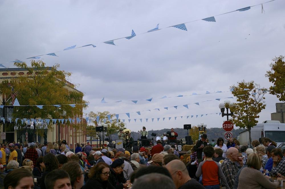 Downtown celebration for Oktoberfest in New Ulm, Minnesota