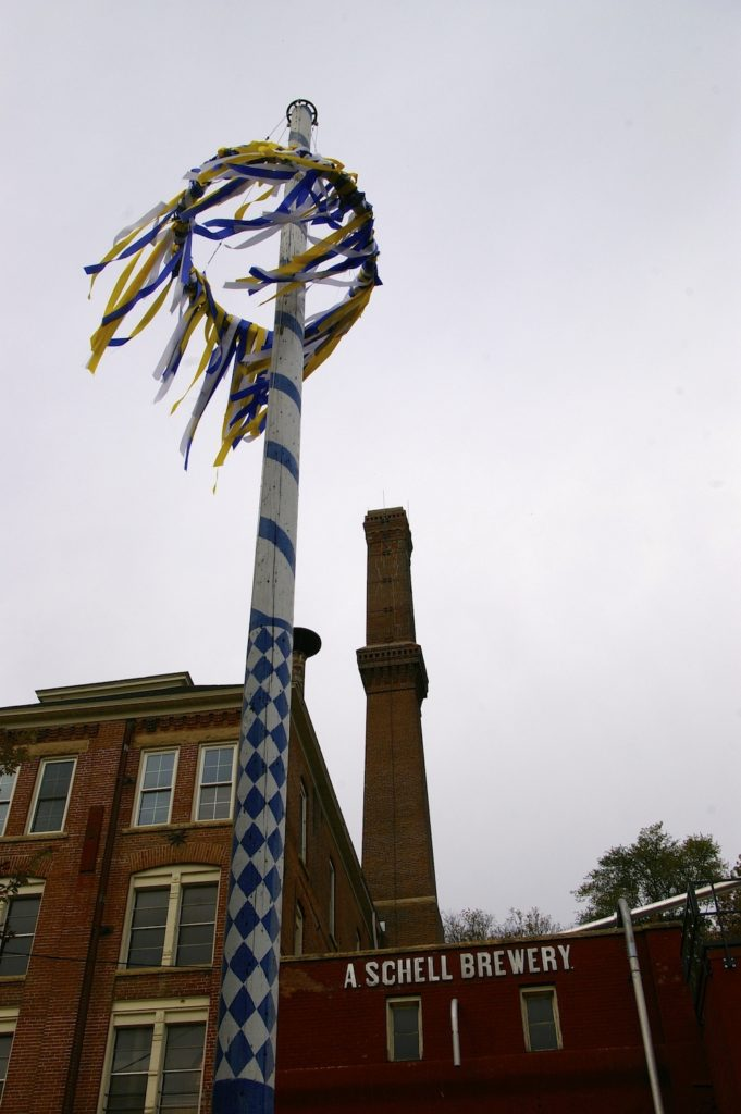 Festive decorations at Schell's Brewery during Oktoberfest in New Ulm, Minnesota