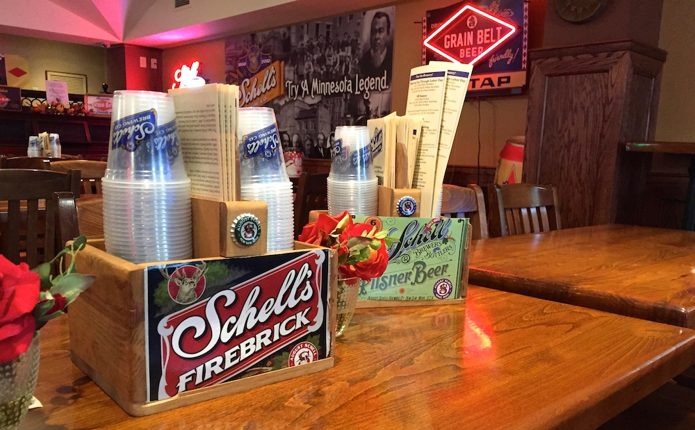 Schell's Brewery tasting room in New Ulm, Minnesota