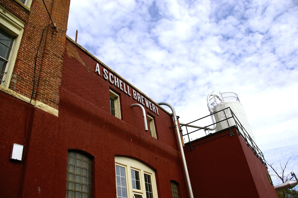 Historic brewing facilities at Schell's Brewery in New Ulm, Minnesota