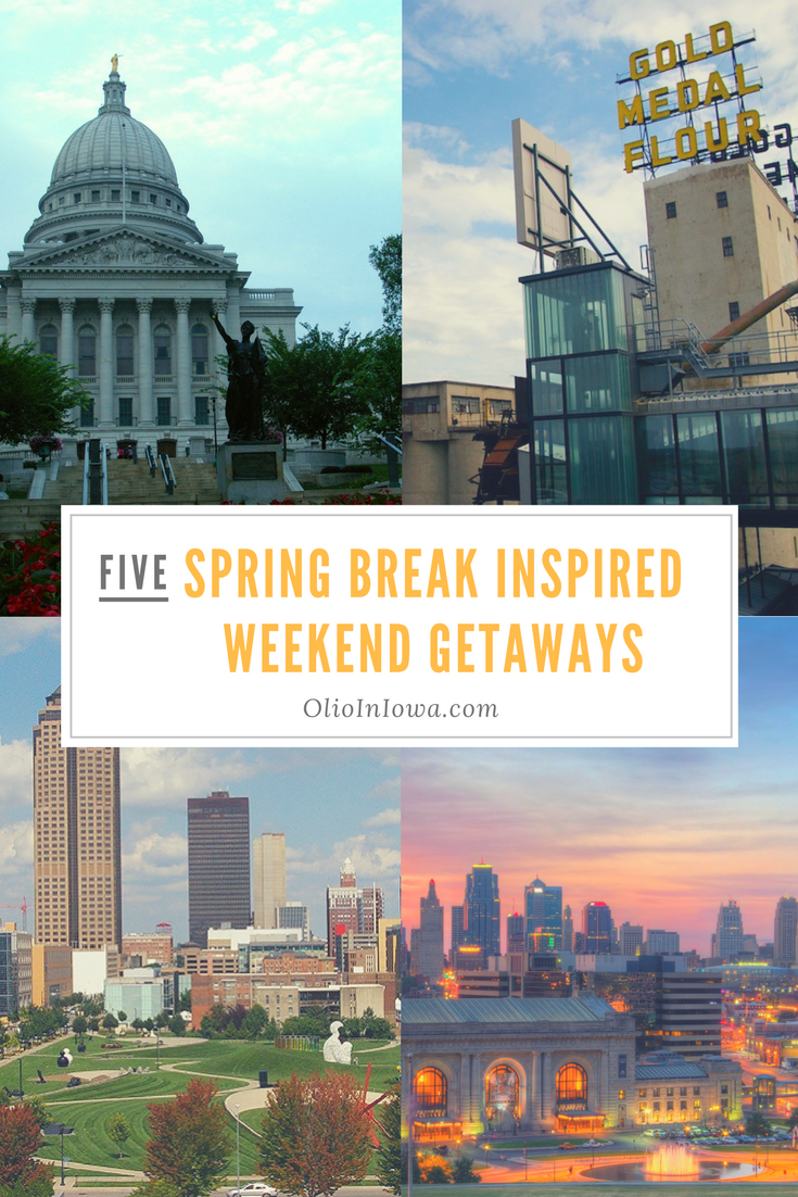 Plan a spring break inspired weekend getaway to one of these Midwestern cities!