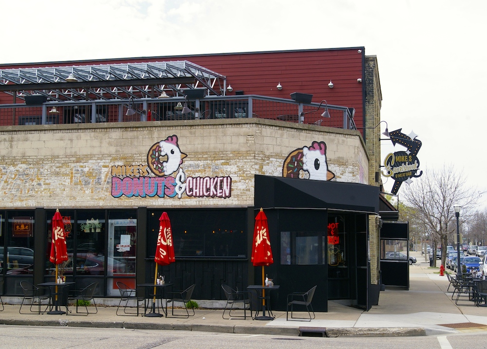 Exterior of Mike's Donuts and Chicken in Kenosha, Wisconsin