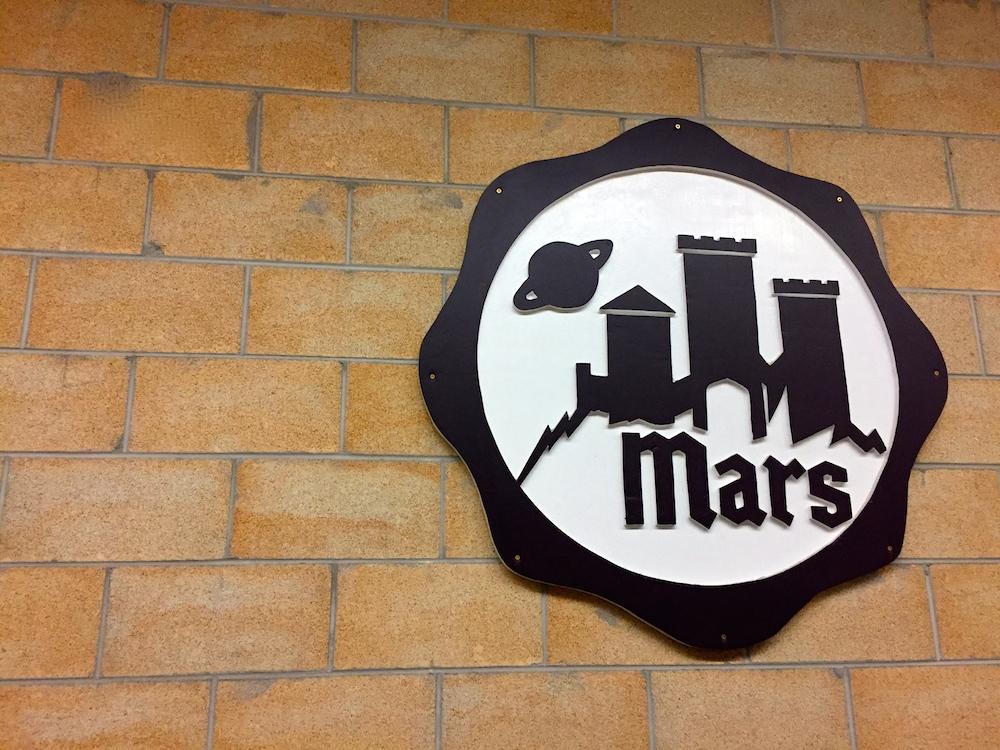 Mars Cheese Castle logo at Mars Cheese Castle near Kenosha, Wisconsin