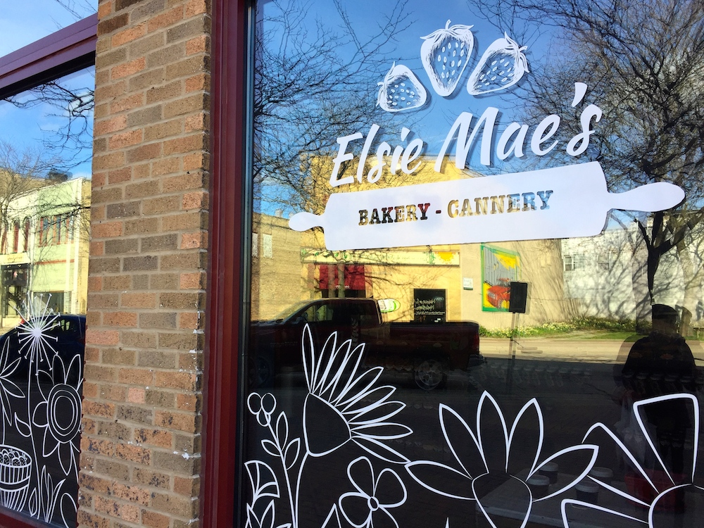 Exterior of Elsie Mae's Bakery and Cannery in Kenosha, Wisconsin