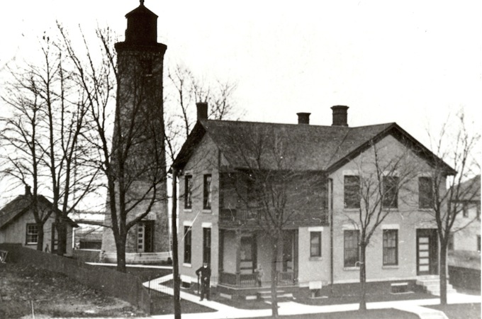 Historic photo of the Southport Lighthouse in Kenosha, Wisconsin