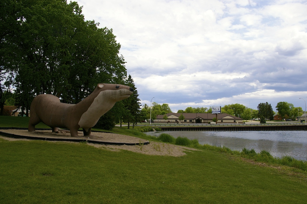Statue of Otter the World's Largest Otter in Fergus Falls, Minnesota