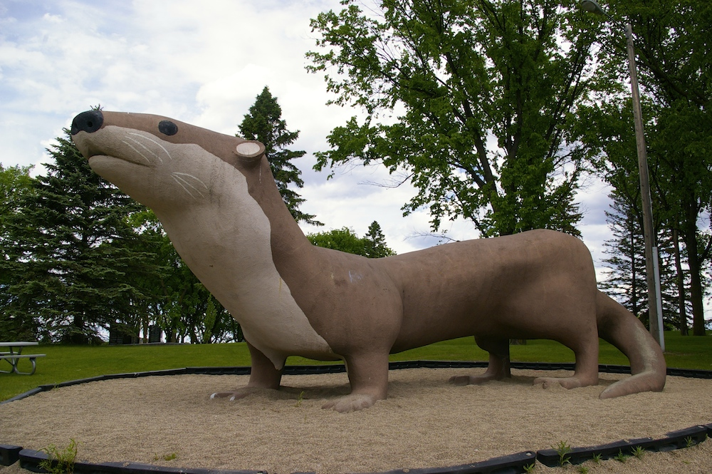 Statue of Otter the World's Largest Otter in Fergus Falls, Minnesota