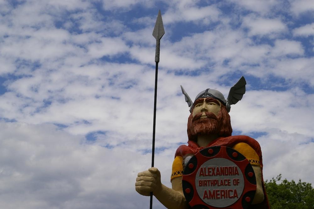Statue of Big Ole, America's Biggest Viking in Alexandria, Minnesota