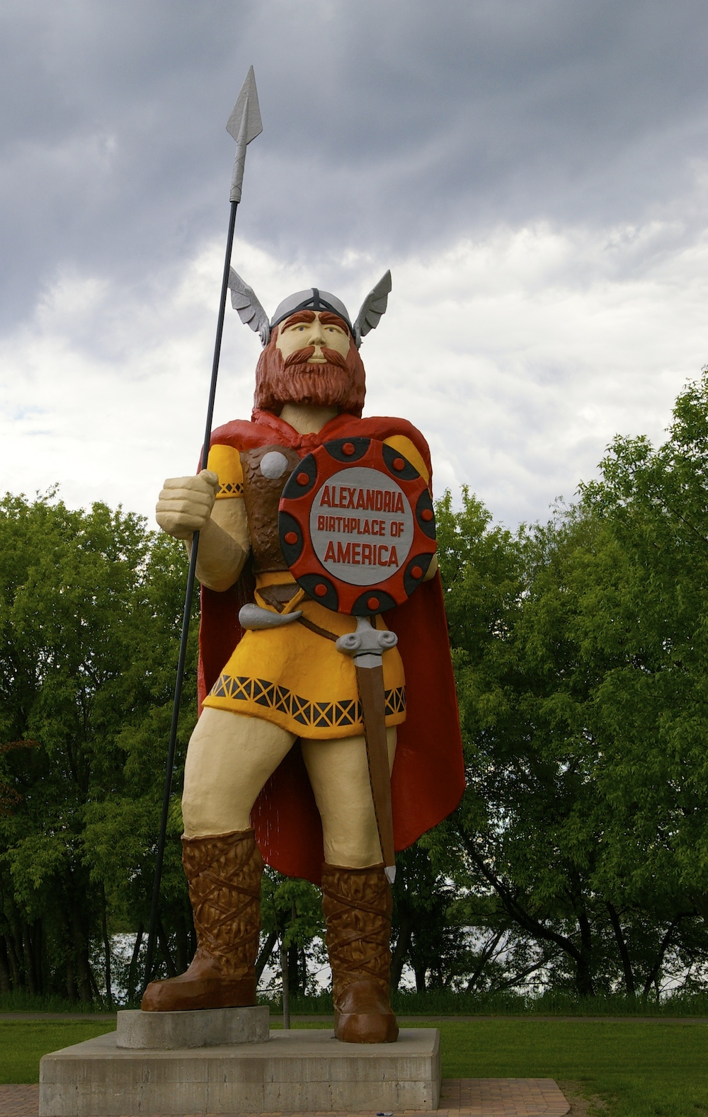 Statue of Big Ole, America's Biggest Viking in Alexandria, Minnesota