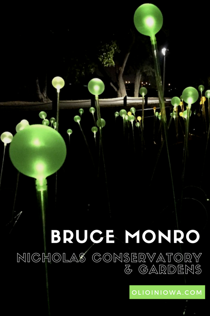 Artist Bruce Monro lights up Nicholas Conservatory & Gardens in Rockford, IL this fall!