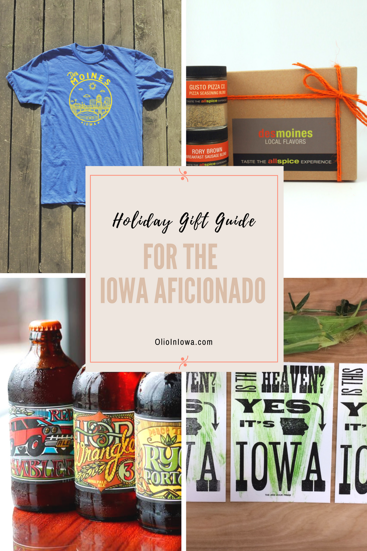 Discover unique gifts for the Iowa aficionado in your life! Shop Olio in Iowa's 2017 Holiday Gift Guide now!