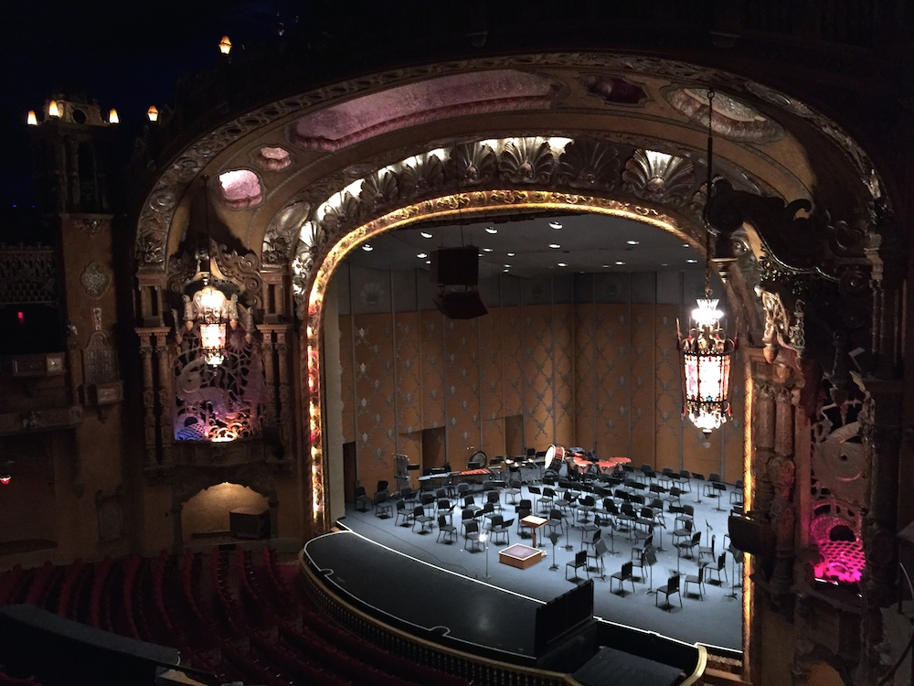 Stage view of the Coronado Performing Arts Center in Rockford, Illinois