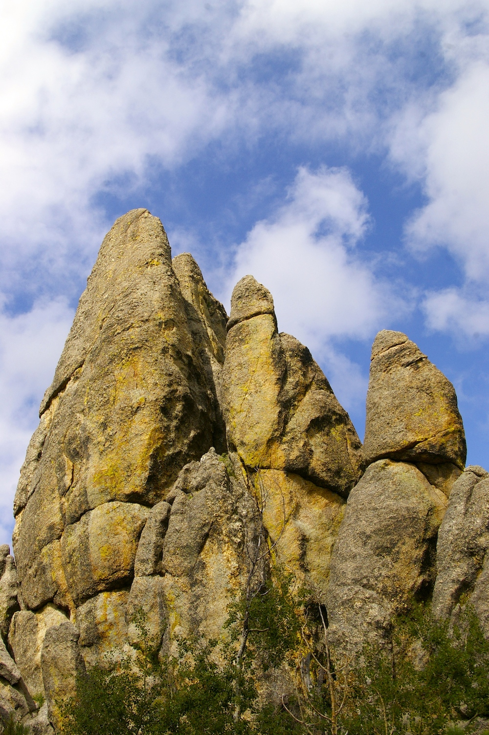Rock formations at Custer State Park in Custer, South Dakota