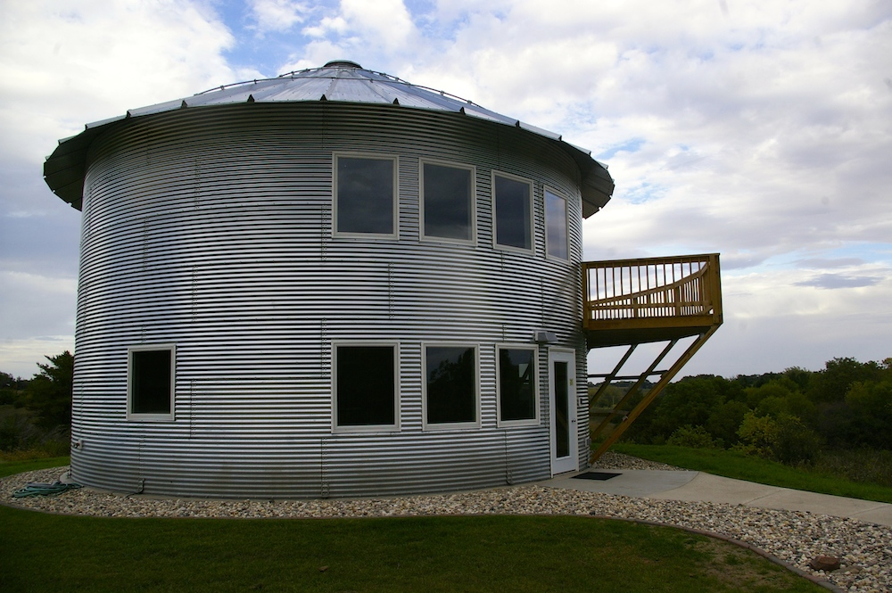 Grain bin cabin in northwest Iowa's Dog Creek Park